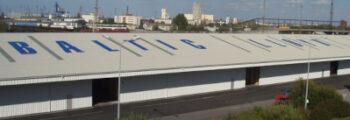 2003: Neubau Logistikgebäude im Überseehafen Rostock
